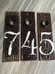 vintage house numbers antique door plates architectural salvage
