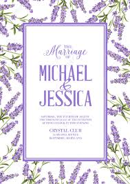 marriage invitation card with custom sign and flower frame