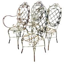 Vintage Style Patio Furniture - vintage wrought iron patio chairs omero home