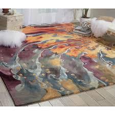 nourison prismatic multicolor area rug 8 u00276 x 11 u00276 free