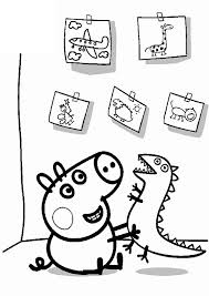 peppa pig family coloring pages coloring kids