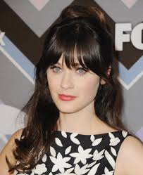 curly hair with bangs zooey deschanel bangs bmnmqf