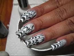 halloween spider web water marble diy nail art tutorial youtube
