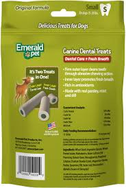 emerald pet canine dental treats fresh breath formula dog treats