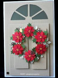 poinsettia wreath roc paper scissors