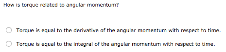how is torque related to angular momentum torque chegg com
