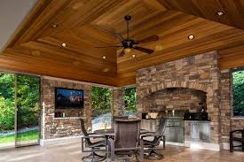 Screen Porch Fireplace by Outdoor Living Room Patio And Screened Porch