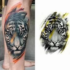 tiger design for leg