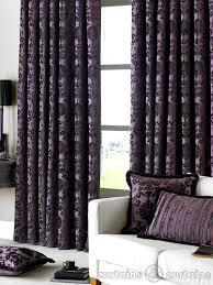 Thick Purple Curtains 200 Dulux Luxury Heavy Thick Cut Velvet Damson Purple Pencil