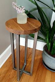 round wood and metal side table marvelous round wood accent table with best 25 round side table