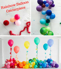 balloon centerpiece rainbow balloon centerpiece baby showers balloon time helium tank