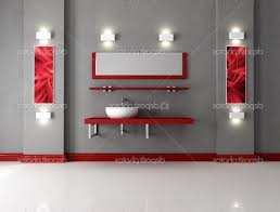 red and white bathroom decor dark floating vanity with sinks black
