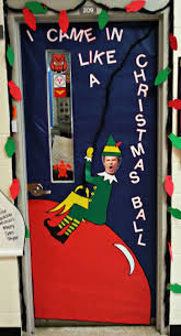 christmas christmas door decorating ideas elf contest bulletin