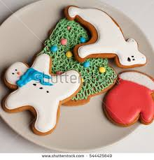 plate of christmas cookies stock images royalty free images