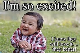 Im So Excited Meme - i m so excited evil kid meme on memegen
