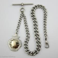vintage watch chain necklace images Sterling silver and gold antique watch chains fobs ashton jpg