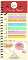 9 months before wedding planning checklist visual ly