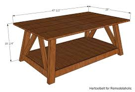 Woodworking Making A Coffee Table remodelaholic diy slat coffee table