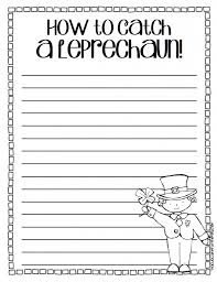 printable writing paper for 2nd grade catch a leprechaun a writing craftivity a cupcake for the teacher if you want to grab a copy or to learn more head to my tpt shop