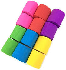 streamers paper coceca 24 rolls crepe paper streamers 6 colors for