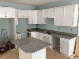 granite countertops with white cabinets lighting light gray granite countertops with cherry cabinets