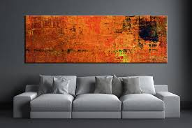 large living room wall art 1 piece orange wall art abstract canvas print
