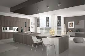 contemporary kitchen wood veneer island levanto scic