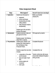 11 examples of assignment sheets