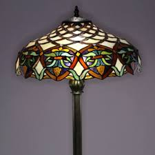 stained glass torchiere l shades glass l shades for antique floor ls roselawnlutheran stained
