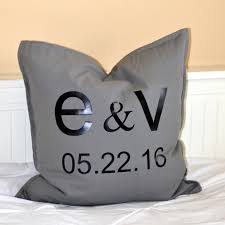 customized wedding gift easy to make customized wedding date pillows a personalized gift
