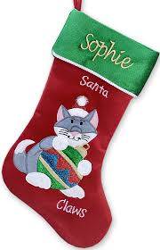 cat christmas stockings personalized
