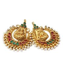 temple design gold earrings buy traditional temple design gold plated earrings er 1172 online