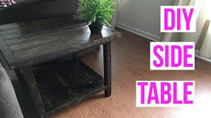 Diy Side Table Easy Diy Side Table
