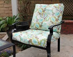 Make Cheap Patio Furniture by No Sew Project How To Recover Your Outdoor Cushions Using Fabric