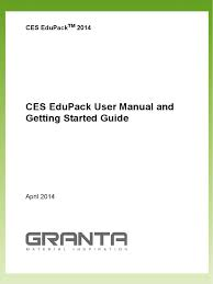 ces edupack manual and getting started guide composite material