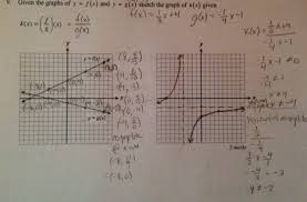 functions given the graphs of y u003df x and y u003dg x sketch the