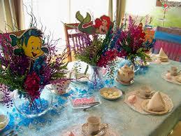 little mermaid centerpieces ideas plumeria cake studio under