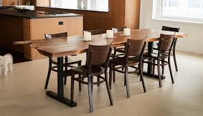 available now walnut slab dining table david stine woodworking