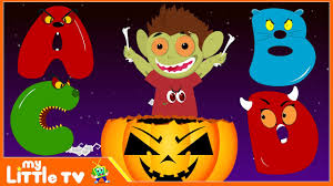 kids halloween clip art halloween scary alphabets monster abc for children halloween