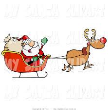 free santa and rudolph clipart 15