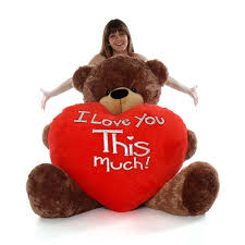 valentines big teddy teddy cuddles with world s largest i you this