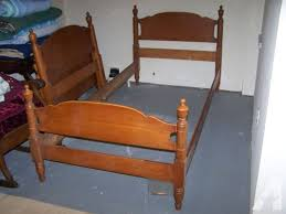 wooden twin bed frame medium size of bed end tables solid wood
