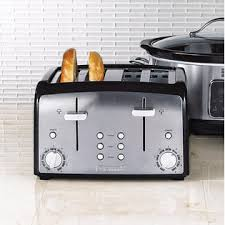 4slice Toasters Kenmore 135401blk Black And Stainless Steel 4 Slice Toaster