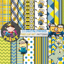 minion birthday party invites minion digital papers minion free clip art scrapbook