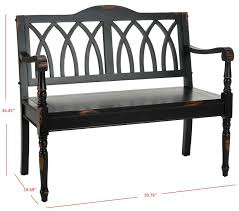 lark manor dieppe wood bench u0026 reviews wayfair