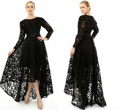2015 elegant black long sleeve plus size special occasion dresses