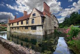 ightham mote is a medieval moated manor house close to the village
