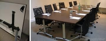 attitudes bureaux table de reunion rabattable achat table de réunion haut de gamme