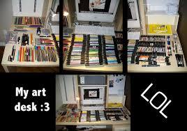 Art Studio Desk by Kukotte U0027s Art Desk By Kukotte On Deviantart