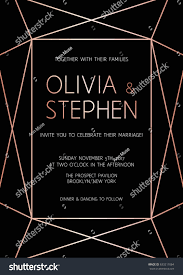 vector modern design template wedding invitation stock vector